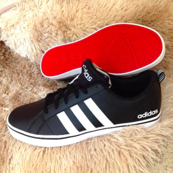 various colors 8505a 5f30c ADIDAS Low Top Black White Red Sneakers NWT